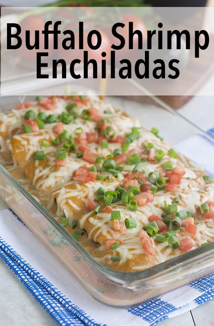 Buffalo Shrimp Enchiladas