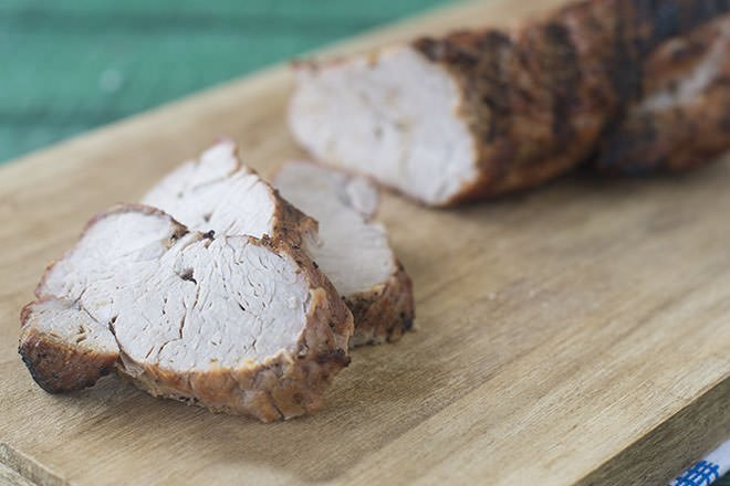 Let pork tenderloin rest for 7 minutes and then slice it.