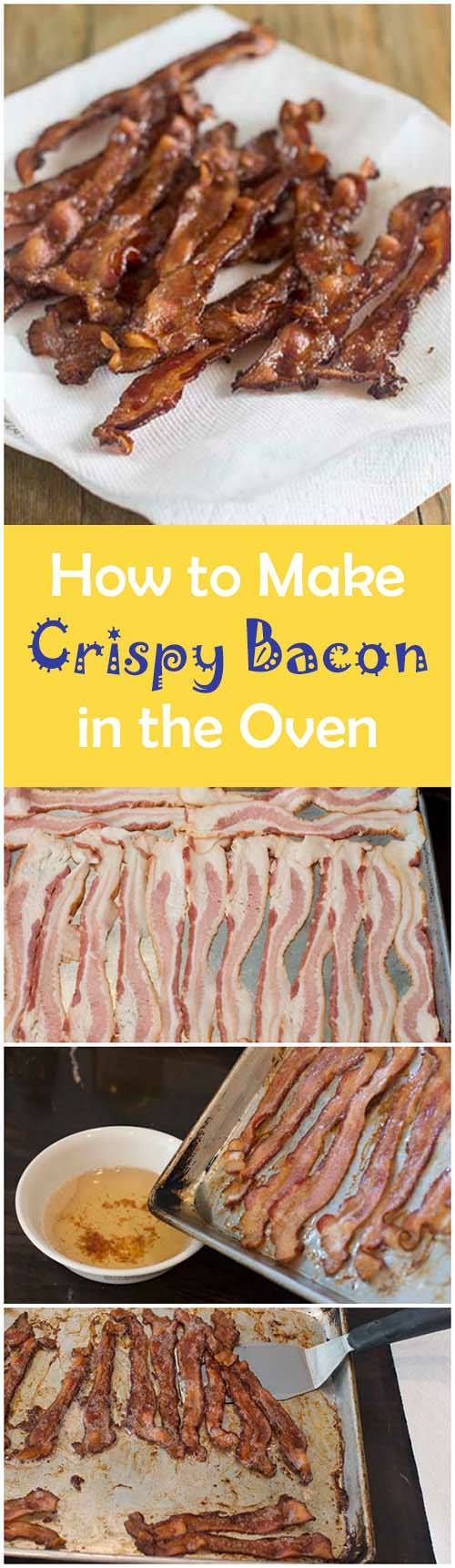 Making bacon for a crowd? Find out how to make a big batch of bacon in the oven. With this method you get it nice and crispy with very little effort. Easy crispy bacon - who doesn't love that?