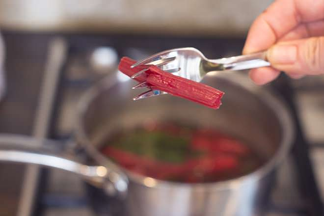 Use a fork to test if the beet greens are done.