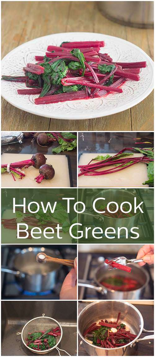 The stems and leaves from beets are totally edible and extremely delicious. Learn how to cook beet greens here. They get sauteed with a little bit of salt, I\'ll show you what to do with them. They can be eaten in salad or with roasted beets for more beet flavor. #howto #recipe #healthy #healthyrecipe #beets