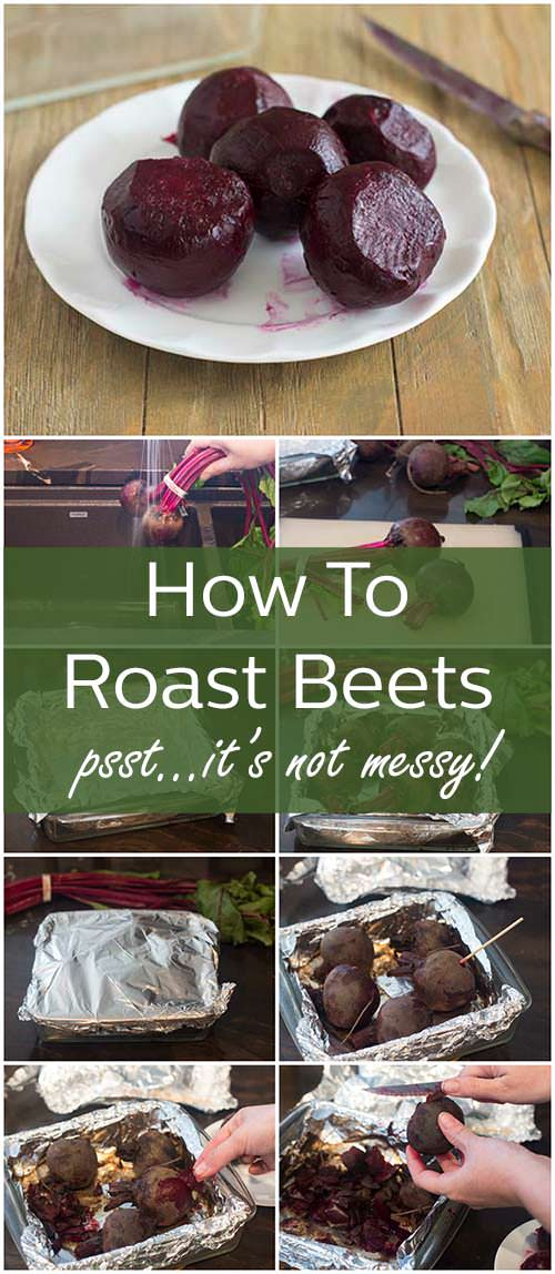 It's not messy to cook beets if you know the tricks for roasting them with the skins on. Learn how here.