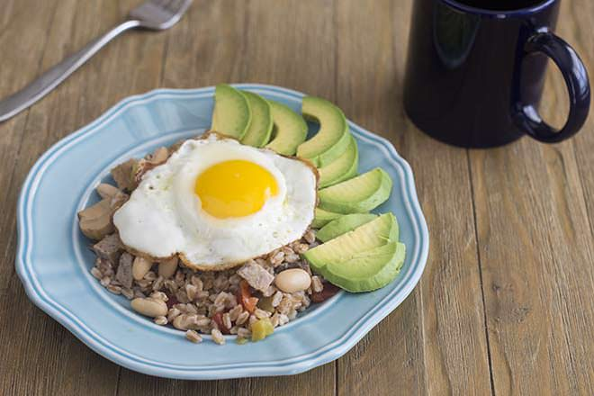 Farro and Sausage Protein Breakfast Bowls
