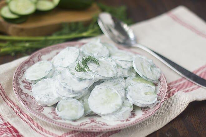 Cucumbers in Dill Sauce