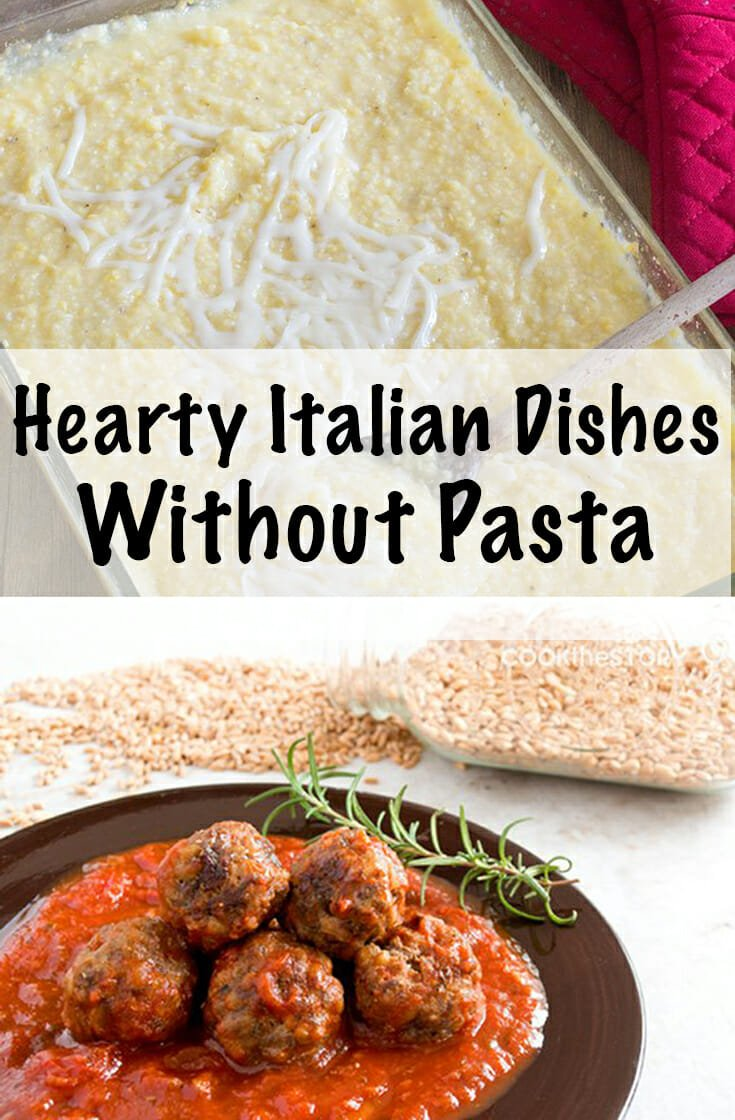 These authentic Italian dishes don't need pasta to be comfort food. They are perfect for any party, are pasta free, feed a crowd and make you feel like you're in Italy. #italian #italianfood #comfortfood #healthyrecipes