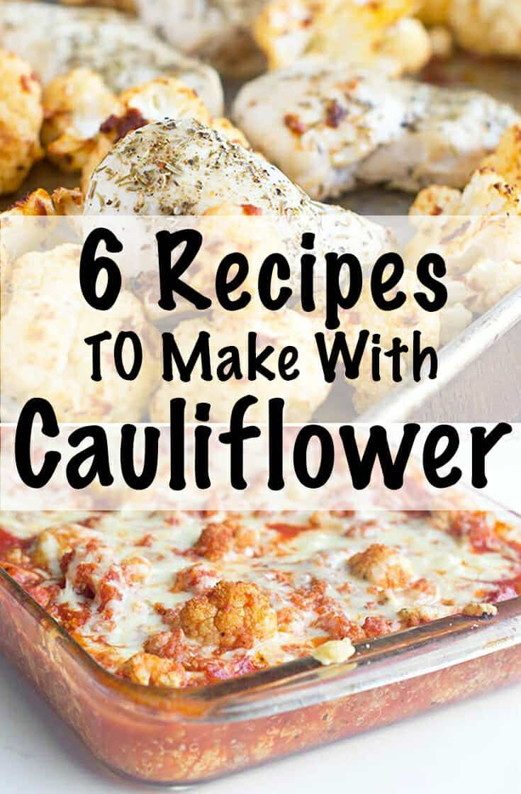 Cauliflower is a versatile ingredient. Here are 6 different recipes to make with cauliflower for you to incorporateit into a meal.