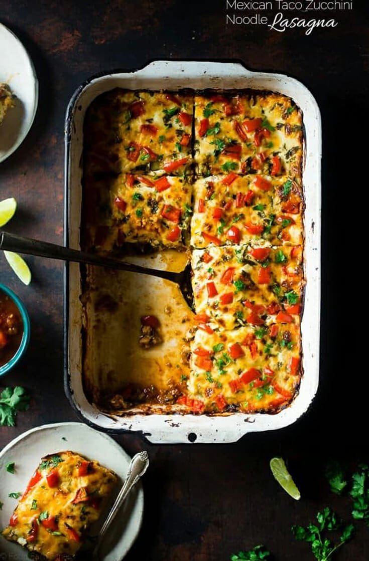 Need a crowd pleaser for your dinner table? Mexican-inspired taco flavors layered in between lasagna noodles makes for a flavorful meal. Southwest spices come together in this easy dinner. #homemade #dinner #lasagna #mexican #taco