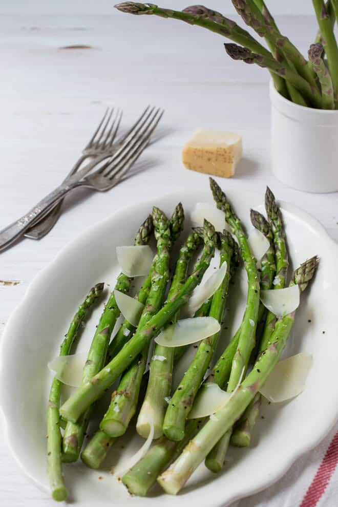 Roasted Asparagus with Parmesan Appetizer