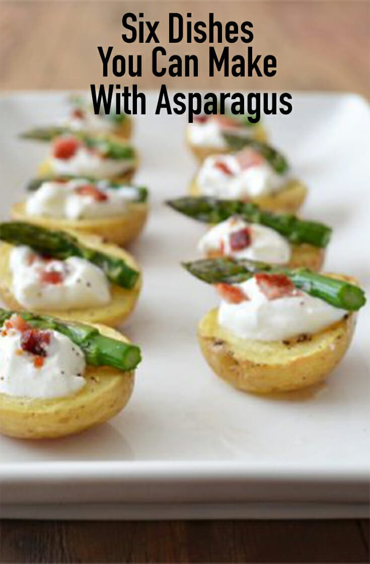 You'll be amazed at all of the recipes you can make when you have an abundance of asparagus. The fresh flavor lends itself well in these six dishes.