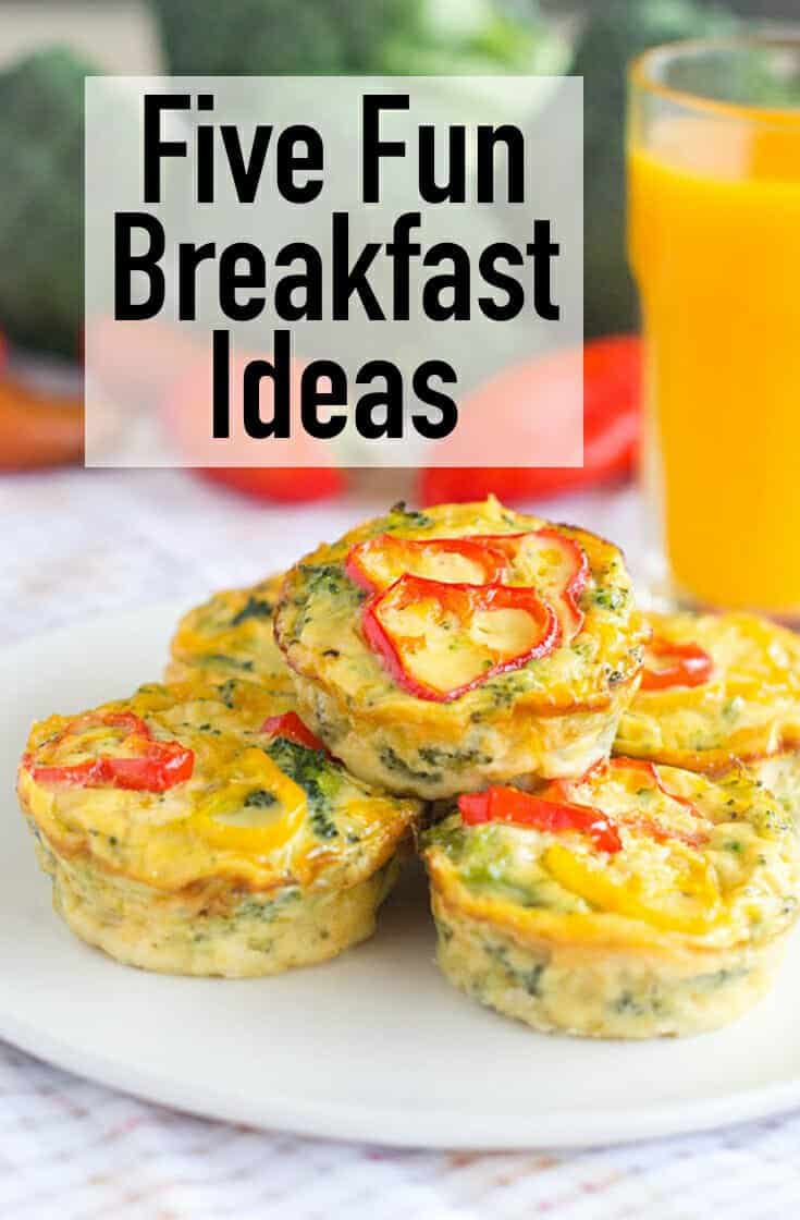 Need to freshen up your morning routine? Try these five fun breakfast ideas out to liven up the start of your day and to keep you powering through it.