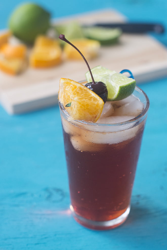 What's better than a Shirley Temple? A grown up Shirley Temple made with ginger beer and Balsamic vinegar. It's a mocktail that the kid and the adult in you are going to love!