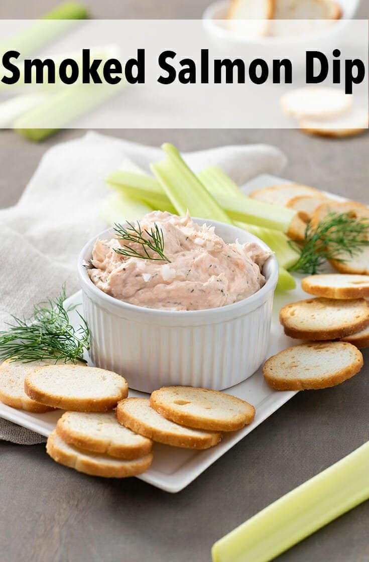 The perfect dip for any time is this silky, smoky, and scrumptious, smoked salmon dip. It's great for entertaining and guests anytime.