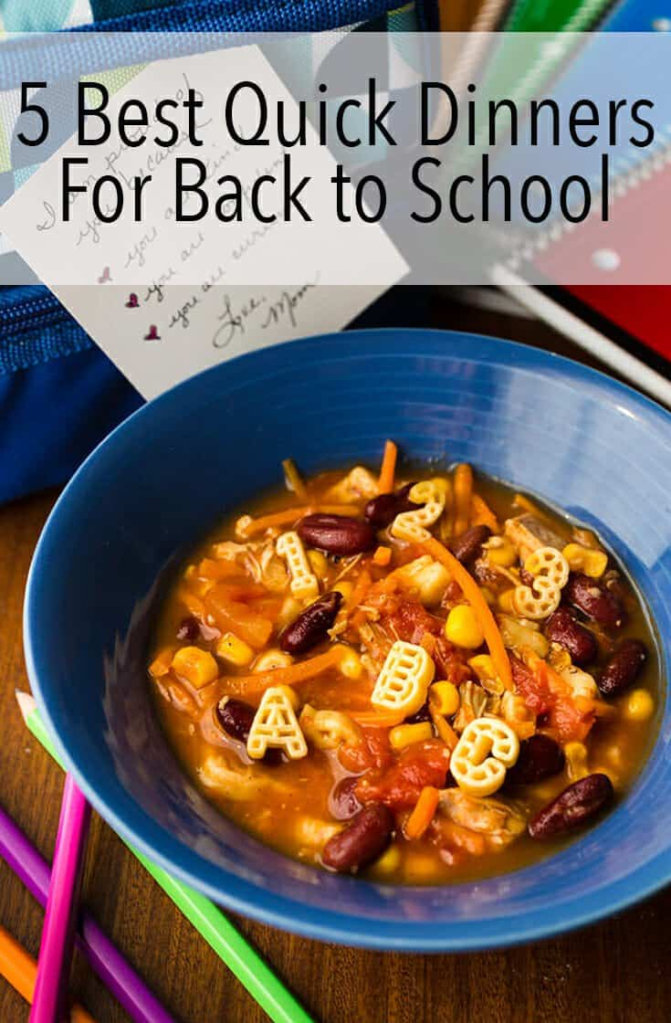 These are the 5 Best Quick Dinners For Back to School for when time is short, but you want to sit down and visit over an easy meal.