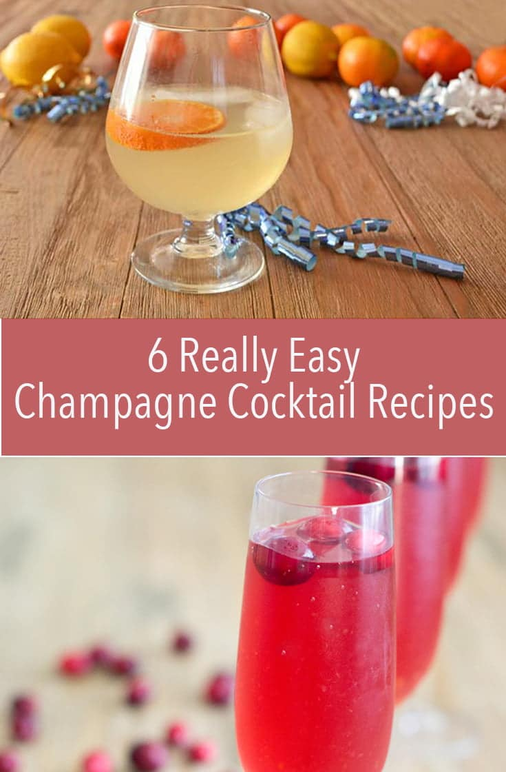 These easy Champagne Cocktail recipes are quick to make and delicious to drink. They're bubbly and really simple to throw together for when you're having a party.