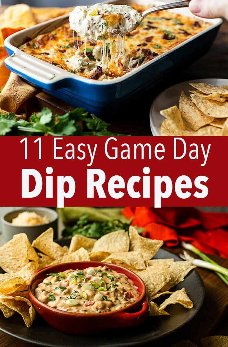 No game day is complete without appetizers and what's easier to serve than a bunch of delicious dips? These are the best dip recipes.
