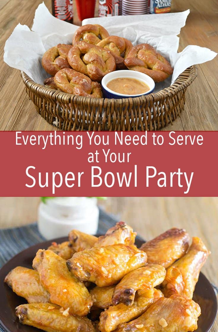 This is everything you need to serve at your super bowl party. Easy graband go bites you can eat around the counter or on the sofa.