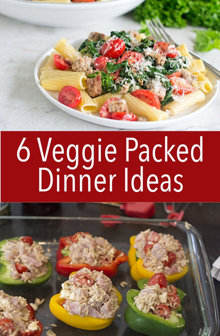 These6 veggie-packed dinner ideas will easily keep you on track and they're totally delicious. You'll be happy to get your greens in.