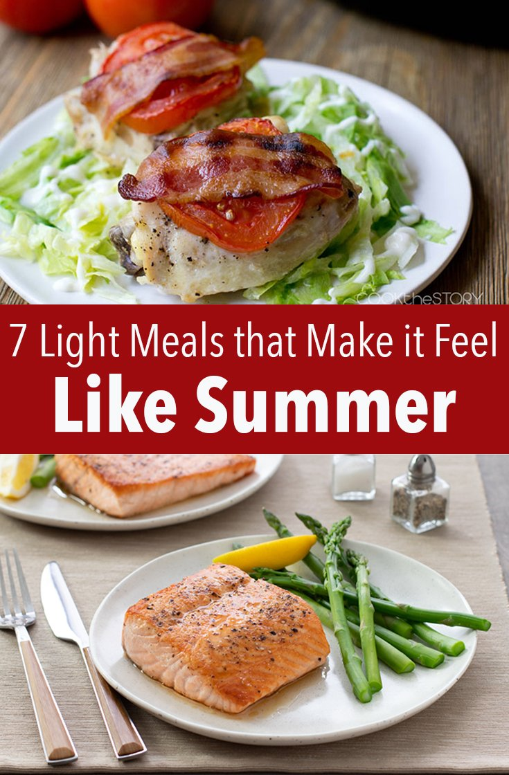 Whip up one of these light meals to make it feel like summer when the late winter blues are hitting you and you\'re dreaming of warm days.