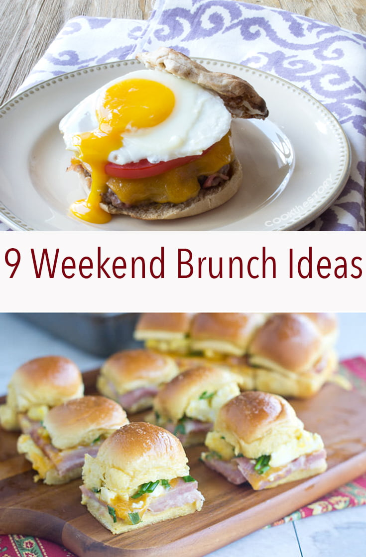 These 9 Weekend Brunch Ideas have everything you need to have a relaxing morning in with a big spread of food.
