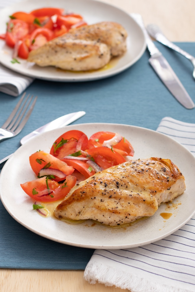 Here's how to cook boneless skinless chicken breasts so they're deliciously browned on the outside and juicy on the inside—and it's easy!