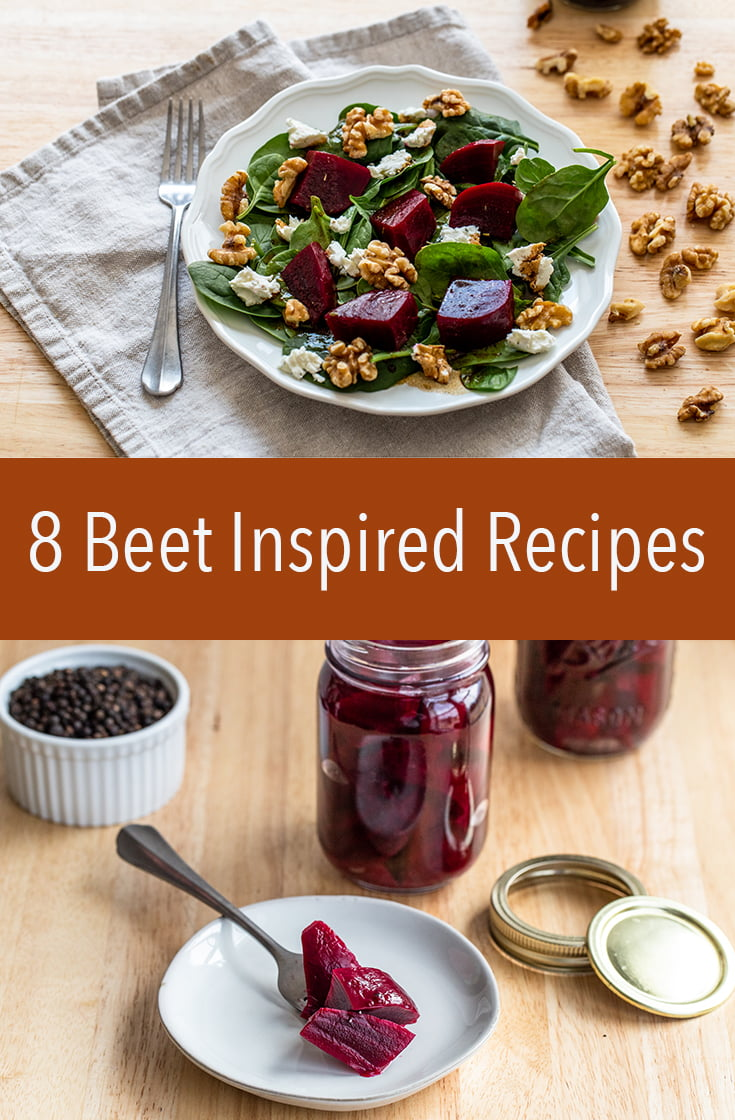 These 8 Beet Inspired Recipes will give you so many ideas for how to use the color, nutrient-packed root vegetables. They're so versatile.