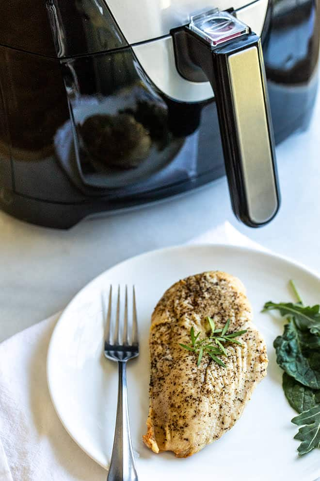 It's easy to make juicy chicken breasts in the air fryer. Just set the timer and forget it - you'll have protein for a healthy dinner in no time.