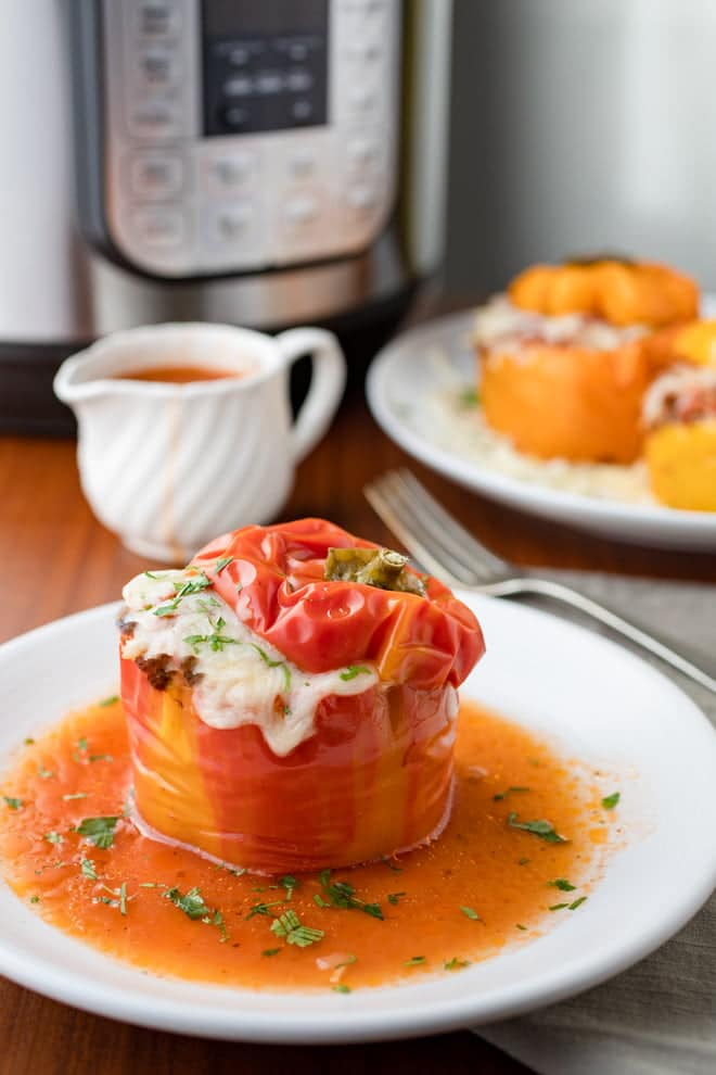 These Instant Pot Stuffed Peppers provide all of the comfort and flavor of the classic recipe in half the time!