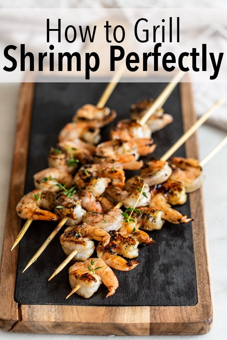 Learn how to grill shrimp perfectly so you can have juicy skewers whenever you\'re cooking outdoors. It\'s really fast and easy.