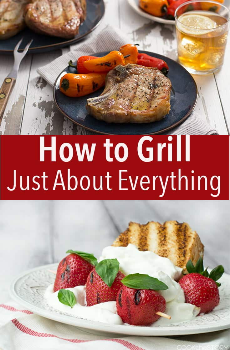 Learn how to grill just about everything easily. From chicken, burgers, pork, seafood appetizers, dessert, breakfast - you'll be the pro.