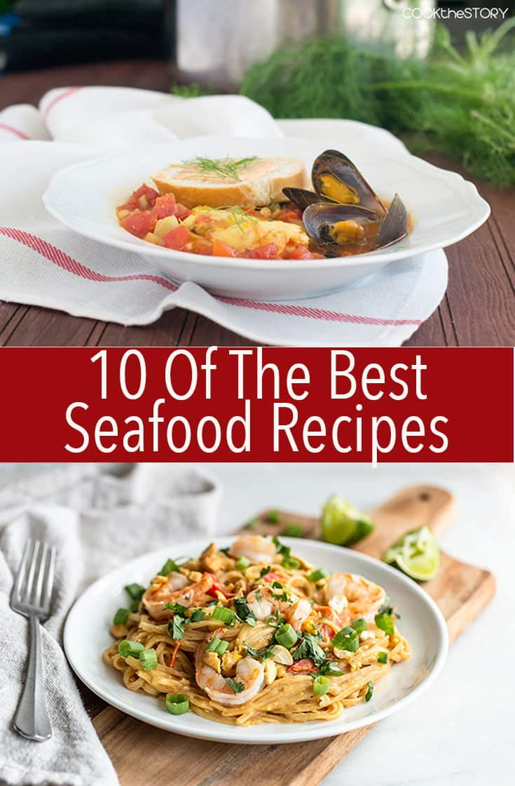 These are the 10 Best Seafood Recipes ever. From crustaceans to fish you can find whatever type of seafood recipe you're looking for.