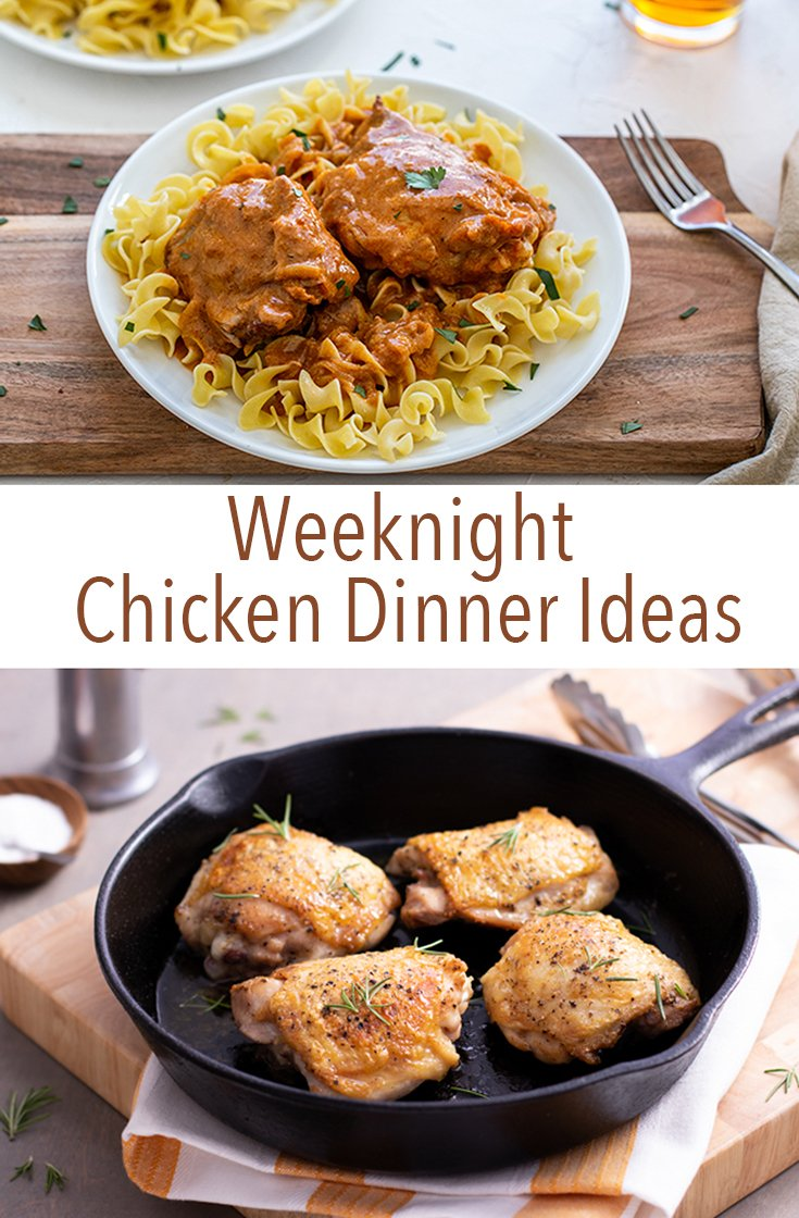 There's a reason why chicken is so popular. It's delicious, healthy and it cooks fast. Try one of these weeknight chicken dinner ideas to feed your family this week.