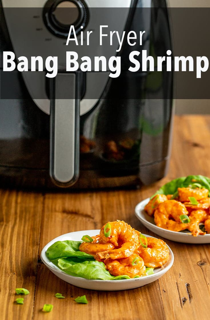 This Air Fryer Bang Bang Shrimp recipe lightens up traditional Bang bang Shrimp because you don\'t have to fry anything...but you still get the delicious, creamy sauce.