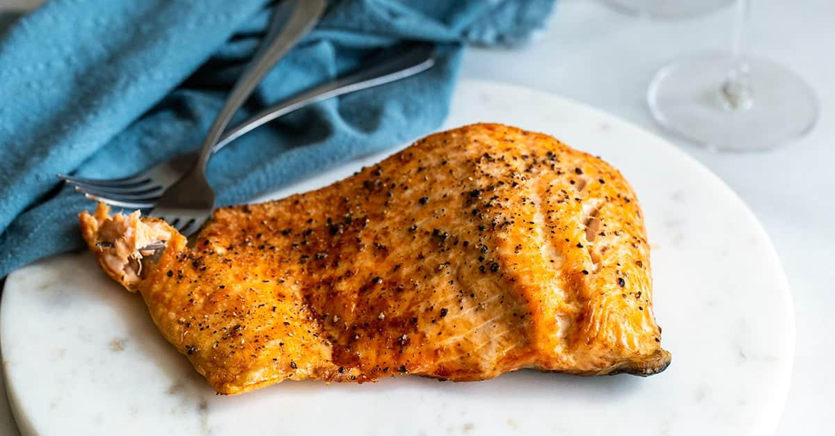 Air Fryer Salmon with Crispy Skin - Cook the Story
