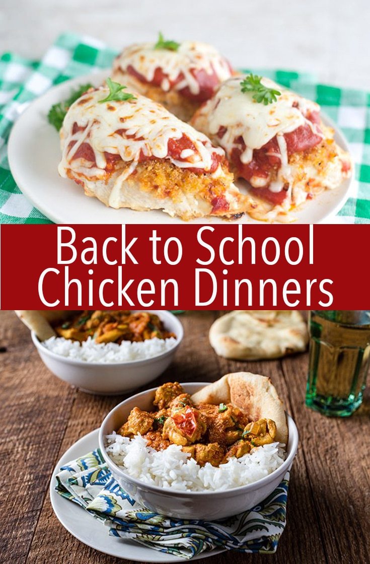 Whip up one of these Back to School Chicken Dinners for an easy and fast meal to serve on a weeknight when time is short. Don't sacrifice flavor and still make a simple meal quickly.