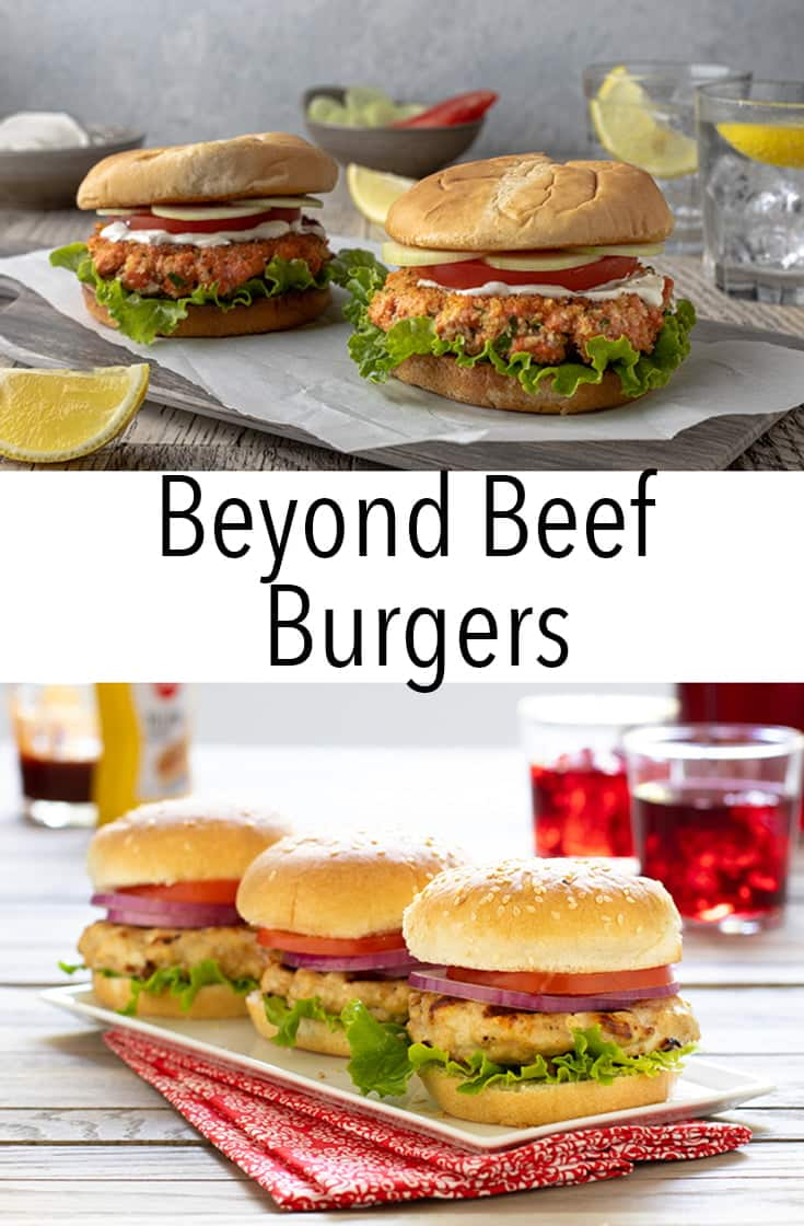 Burgers aren't just made of beef. These beyond beef burgers recipes show you what to do with meats like bison, salmon, turkey and more.