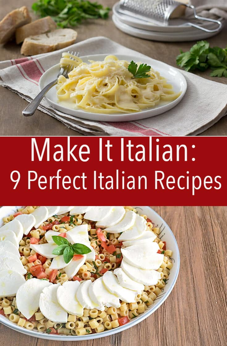 Make it Italian night tonight! These 10 Italian recipes are perfect to make at home and will make you feel like you're transported to Italy.