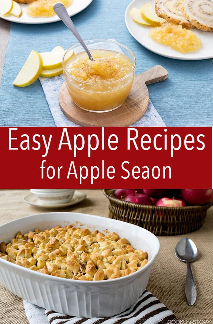 Here are easy recipes to follow during apple season. From apple sauce to savory and sweet dishes, I have you covered.