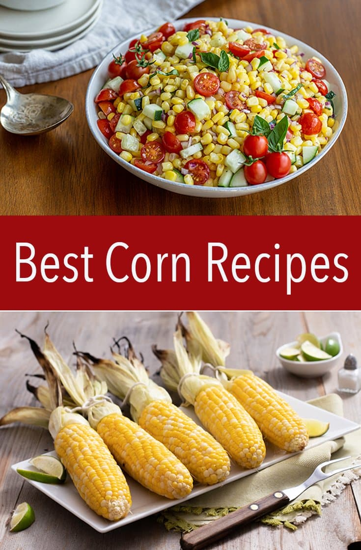 These are the best corn recipes ever! Leave them whole on the cob or make a salad or dip. Corn is the most perfectly versatile ingredient ever. #corn #cornrecipes #easyrecipe