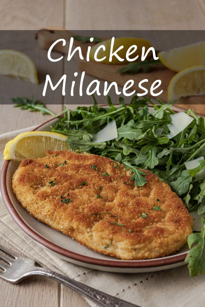 Serve this crispy, juicy Chicken Milanese with a simple salad for a ready-in-25-minutes meal. #chicken #milanese