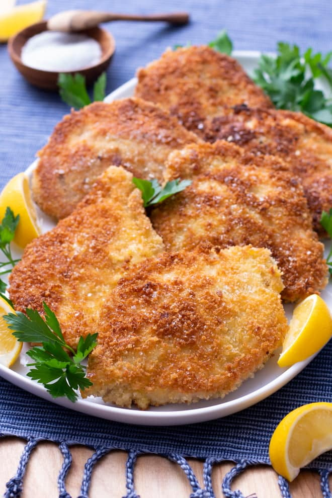 A simple cutlet with a crispy, crunchy coating makes an irresistibly easy meal.