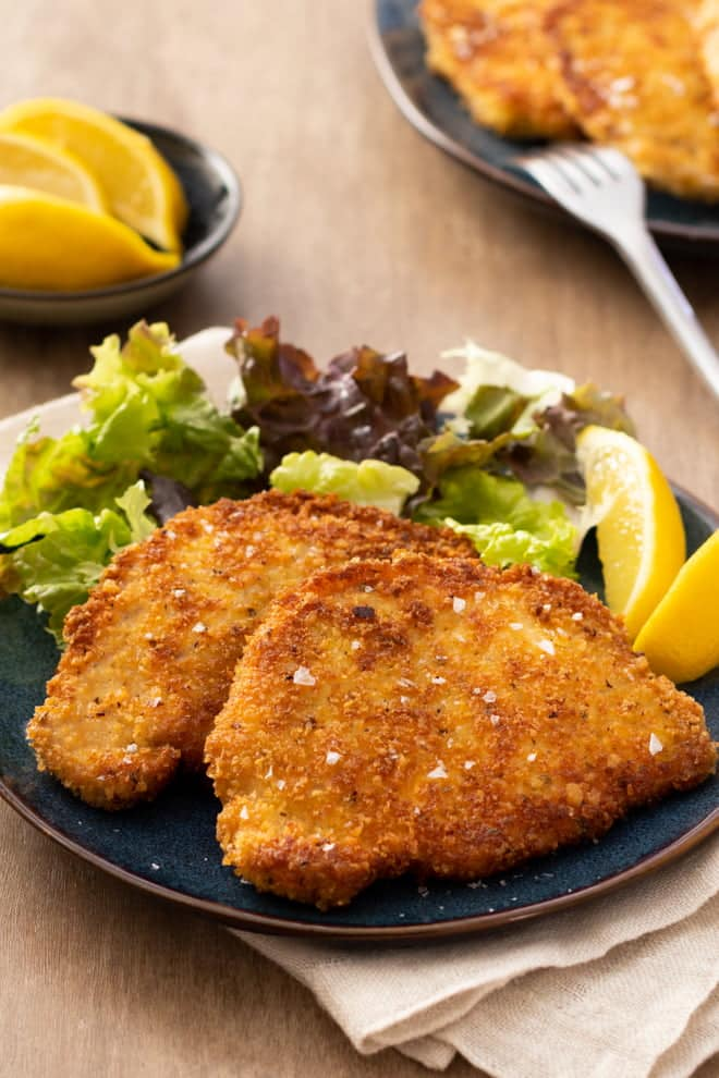 A few special ingredients in the breading makes these cutlets the absolute best!