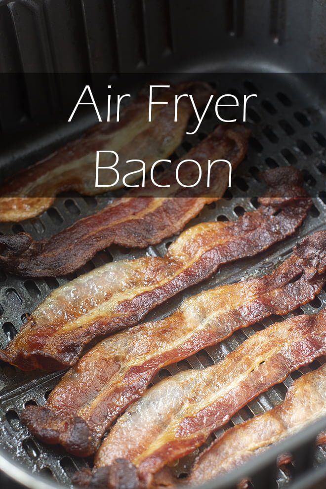 You can absolutely cook bacon in your air fryer, and it turns out crispy or soft or however you like it. It's really mess-free and quick too!