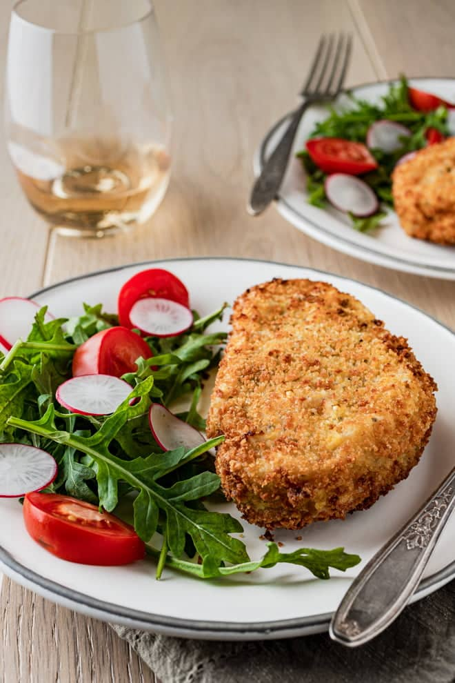 Golden brown, perfectly seasoned, and juicy, these Air Fryer Breaded Pork Chops are ready in 25 minutes.