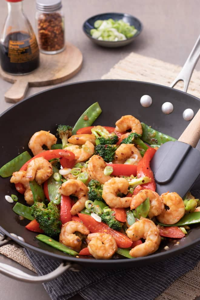 Love stir fry? Then you'll love this shrimp stir fry recipe. It's quick, easy, and delicious—just like a stir fry should be!