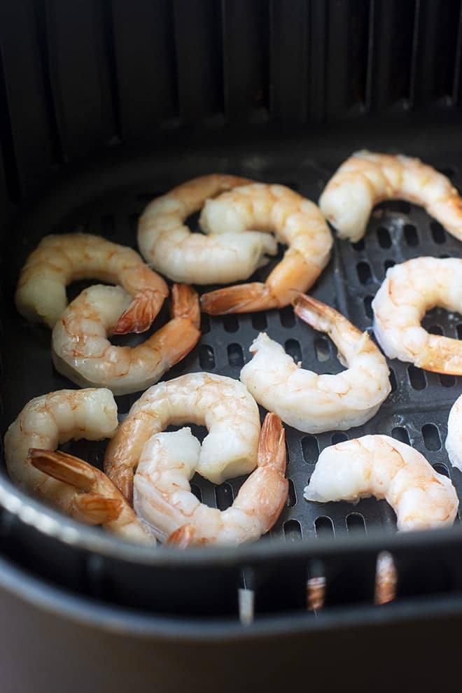 Air Fryer Frozen Shrimp are here to save your dinner! From freezer to plate in under 10 minutes.