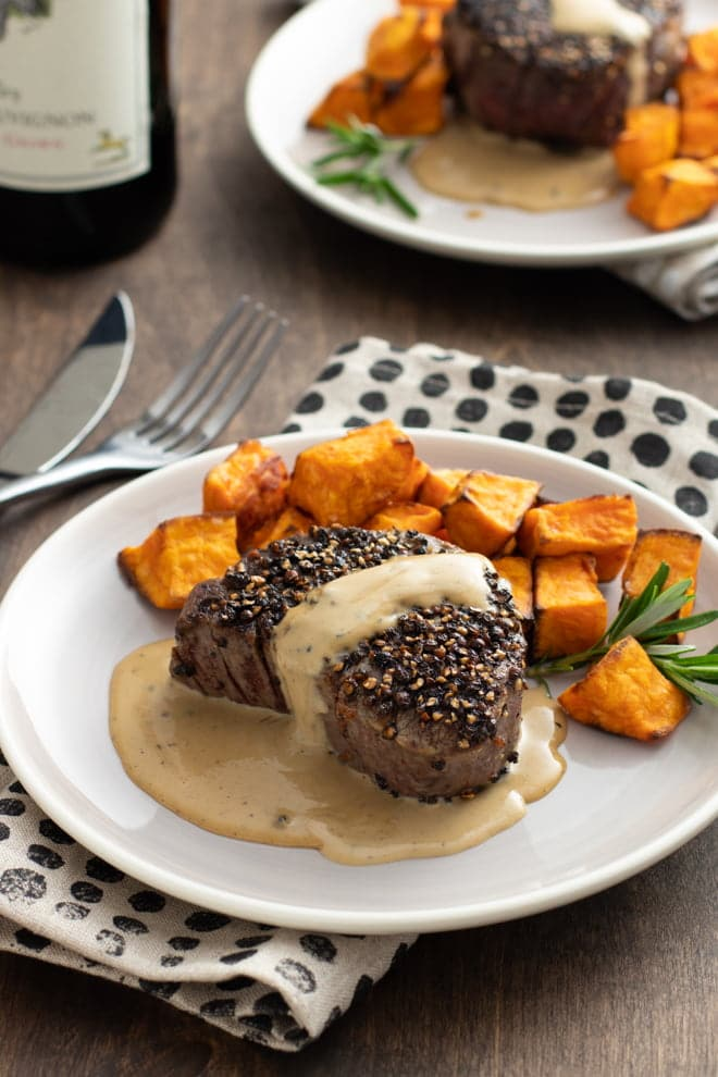 Steak au Poivre is an incredibly impressive dish—steak, crushed peppercorns, cream sauce, and brandy!—that deserves a regular spot in your repertoire.
