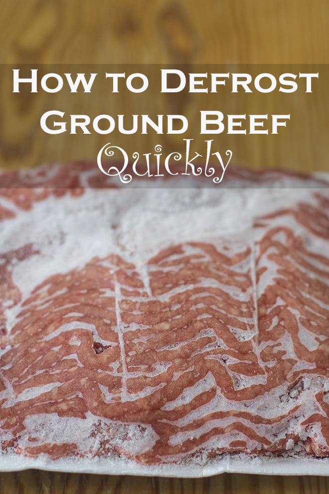 Find out how to defrost ground beef on your schedule with four different methods.