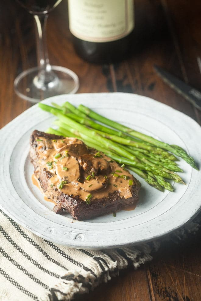Steak Diane is a classic steakhouse recipe perfect for a date night at home!