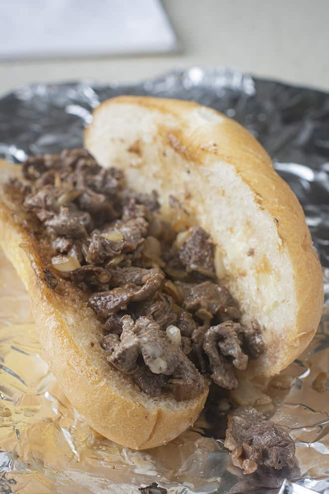Get a taste of traditional style Philly Cheesesteaks from your own kitchen!