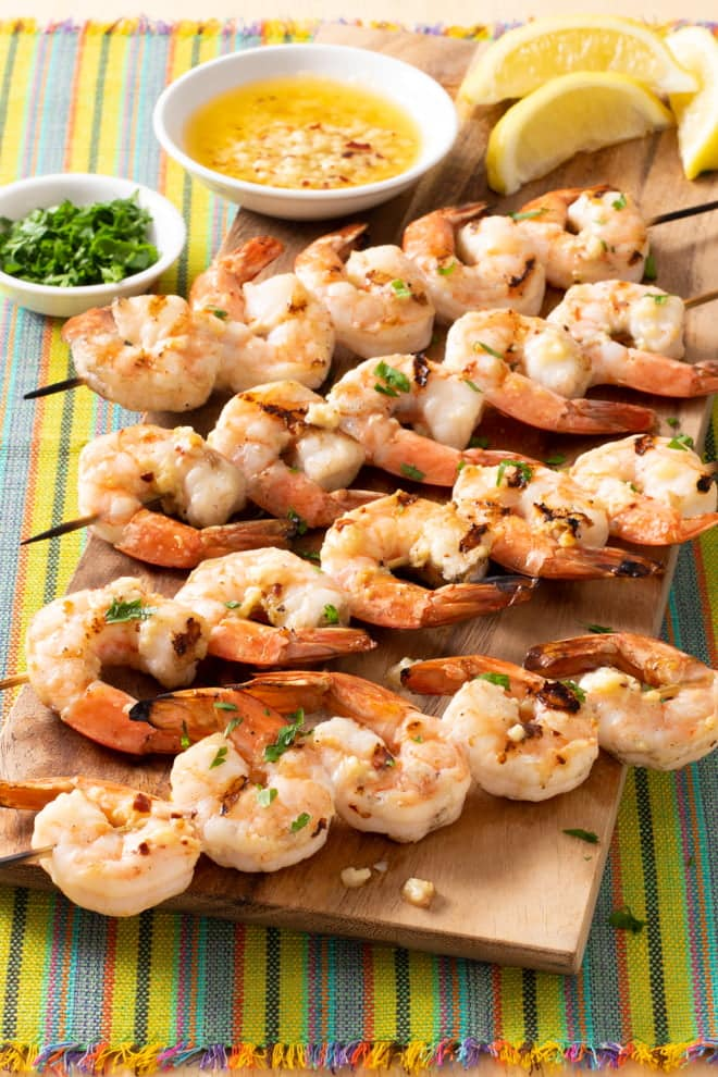 Easy to make and easy to love, Grilled Garlic Butter Shrimp is a great way to celebrate summer and make a delicious meal in minutes.